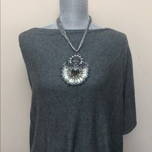 Large Handmade Crystal Statement Necklace, NWT